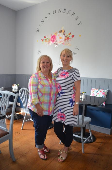 NEW VENTURE: Dawn Wilson and daughter Chloe Wright are welcoming customers to Winstonberry café and B&B in Gainford
