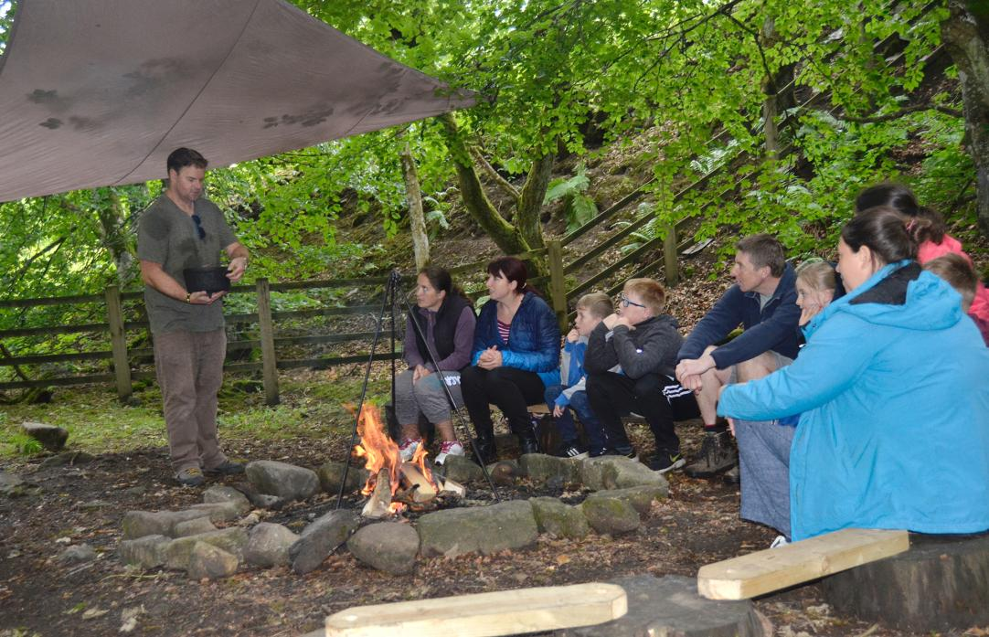 LIVING OFF THE LAND: Simon Wilson, from the North Pennines AONB Partnership, demonstrates how to use a Dutch oven on a campfire