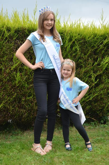 CONFIDENCE BOOST: Beauty pageant star Kaitlyn Ramsay has won a place at the Miss Belle International grand finals in Spain. She is pictured with her four-year-old sister, Carys-Grace, who planning to follow in her footsteps