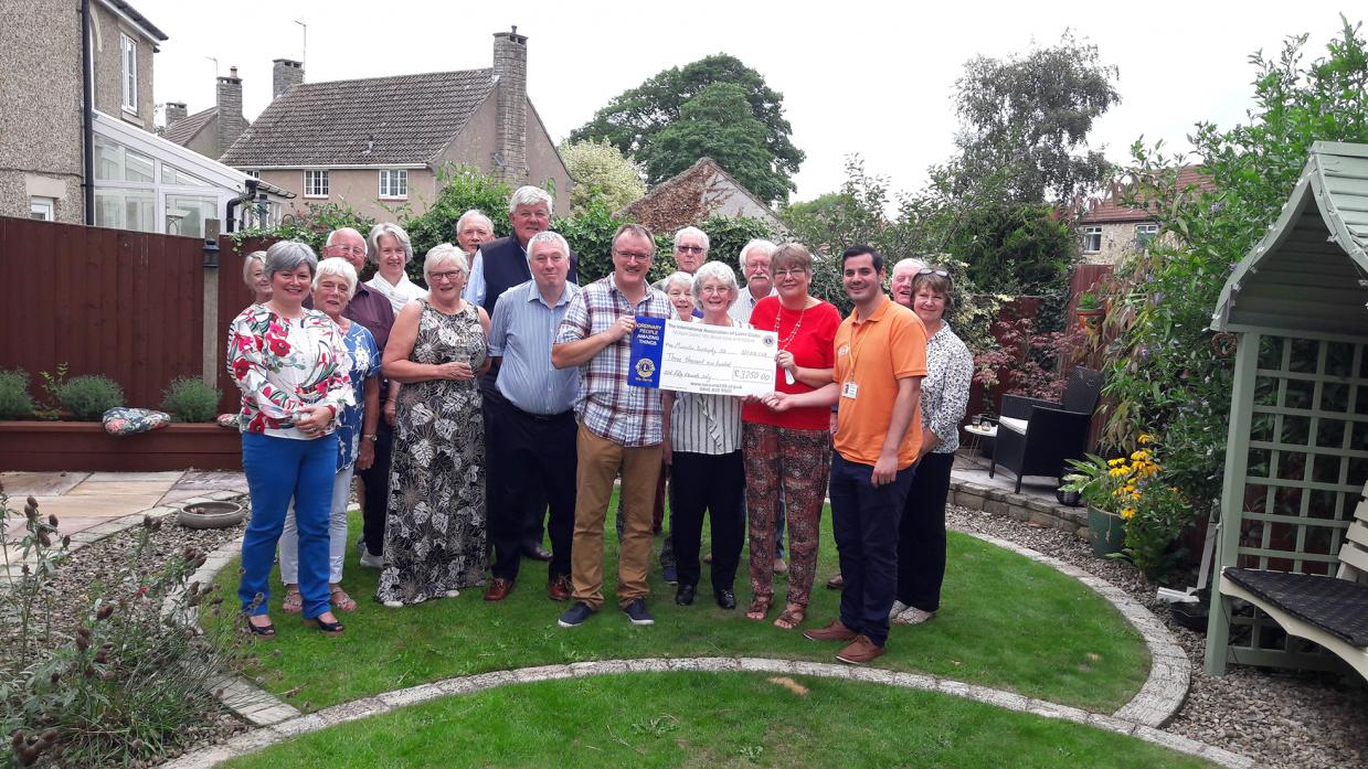 WELCOME EFFORT: Members of Teesdale and District Lions Club raised £3,250 for Muscular Dystrophy UK's Duchenne Research Breakthrough Fund