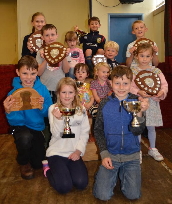 WINNERS: Trophy winners Rosie Robinson, Joe Hutchinson, James Harburn, Lewis Booth, Heidi Luck, Lydia Hutchinson, Fenn Reed, Lucy Nixon, Jack Addison, Elliot Hutchinson and Aidan Marmont