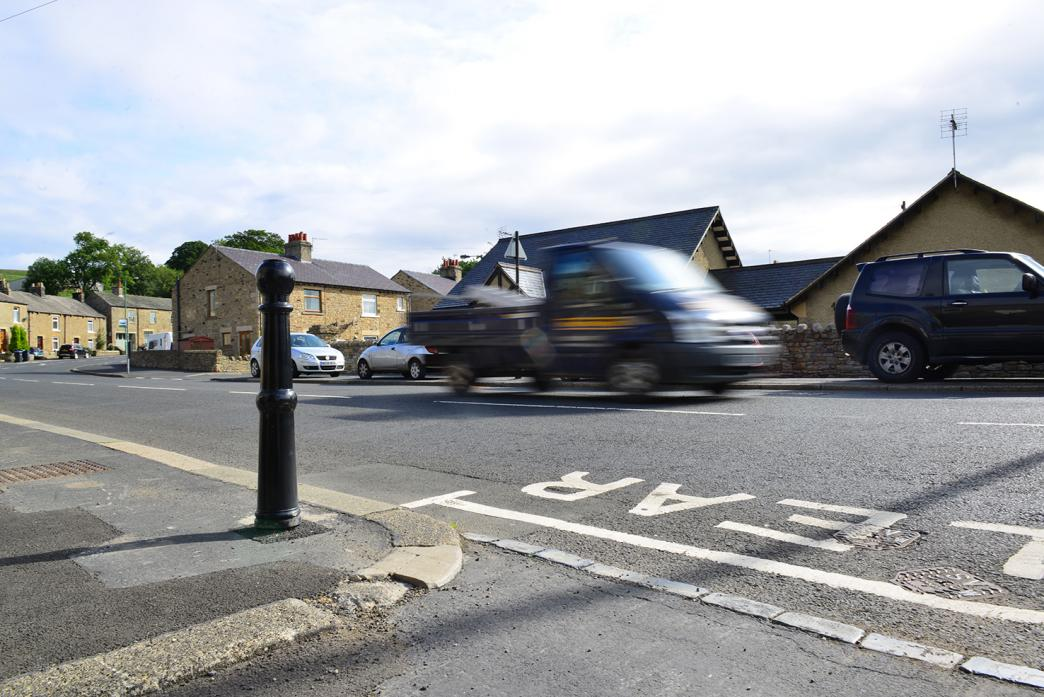TRAFFIC WOES: The bollard in question
