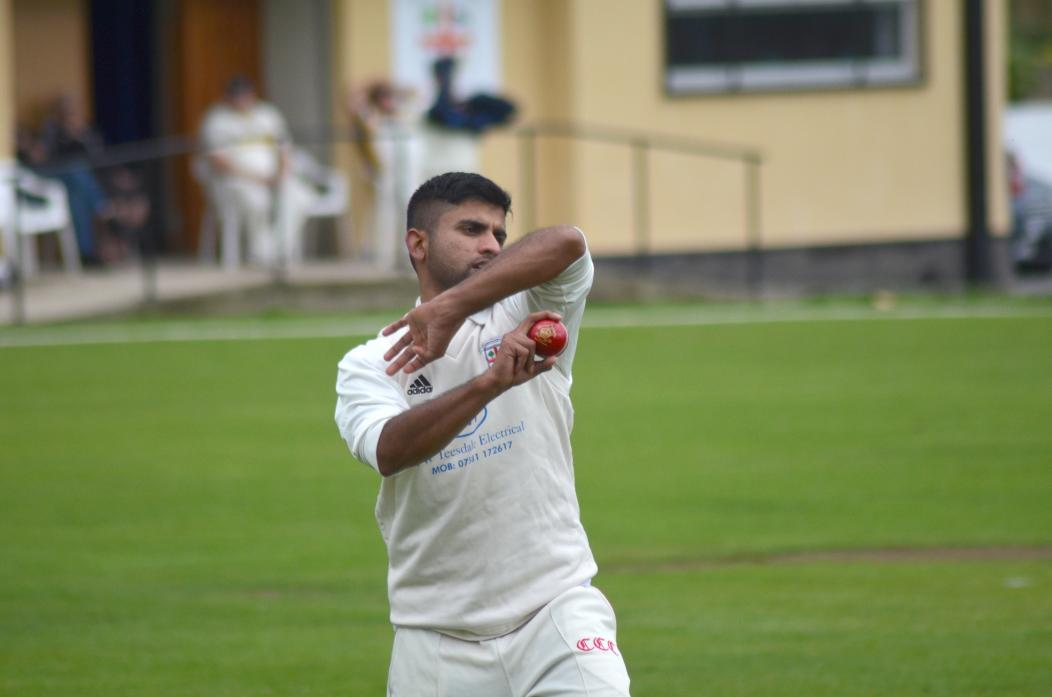 SUPERB SPELL: Shahid Khan took 9-30 in blistering spell of bowling for Evenwood on Saturday. The team is still in with a shout of promotion to division one of the Durham Cricket League