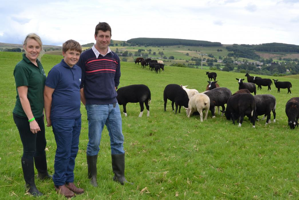 ON THE FARM: Susan and Peter Addison pictured two years ago with son Jack on their farm, between Eggleston and Mickleton. They have stepped forward to give Eggleston show a new home