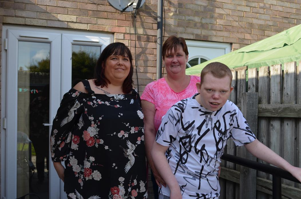 AMAZING SUPPORT: Lisa Wood, centre, pictured with her son Matthew Wood and friend Vicky Raine, who will also benefit from Ms Wood's final charity event