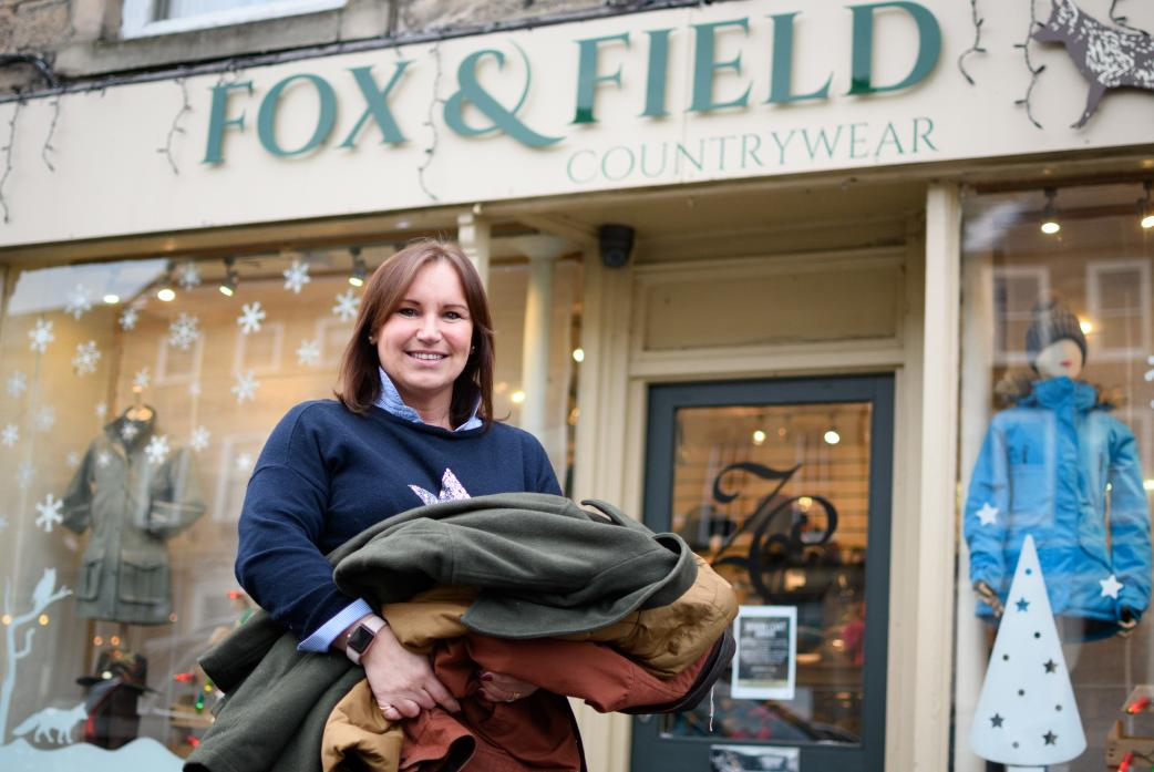Donna Dobson of Fox & Field when she was collecting old coats to give to the homeless last winter