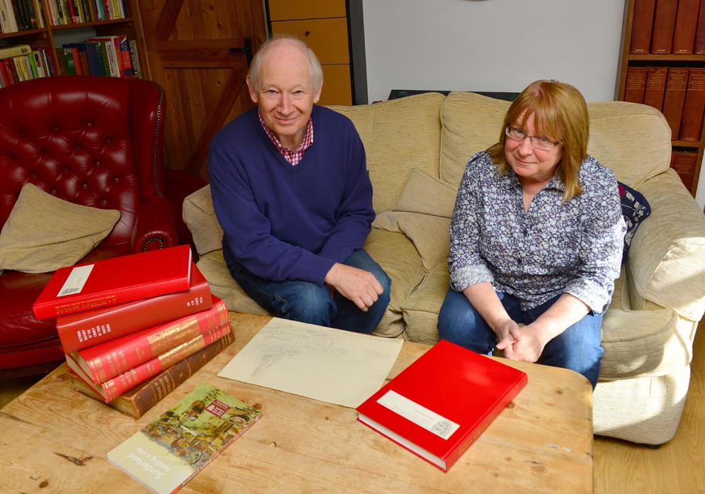 RED BOOK: Jonathan Peacock and Dr Janette Garrett, who are working on the project