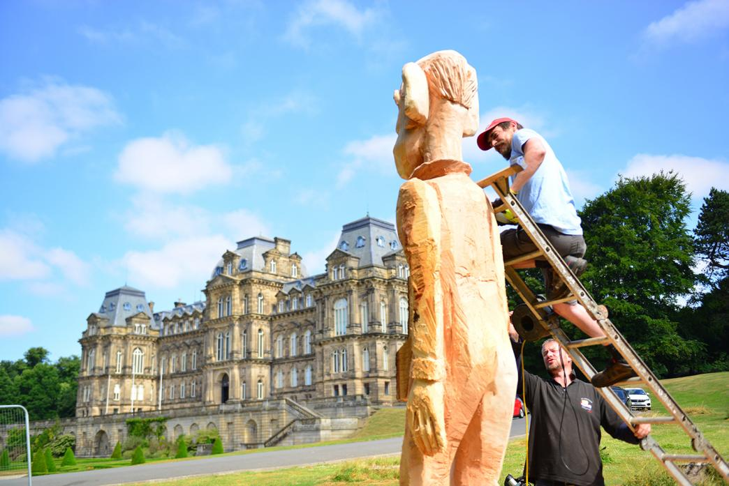 The BFG sculpture being installed in July
