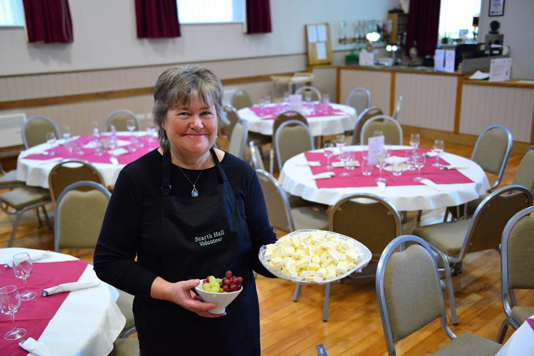 TASTY TREAT: Scarth Hall volunteer Carol Parker is looking forward to welcoming people to the venue's second cheese and wine evening