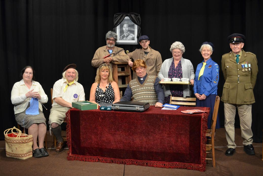 CURTAIN UP: The Teesdale Players' cast for Coronation Fever. Seated are Linda Gregory, Wayne Mann, Teresa Keeling and Stephen Lamb, Standing are Russell Whiting, Tom Metcalfe, Teresa Hutchinson, Jill Hedley and Peter Anderson