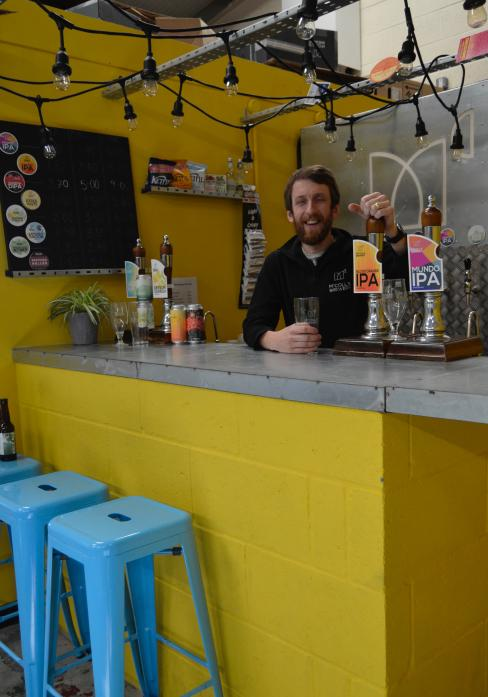 BREWERY BUSINESS: Danny McColl behind the bar