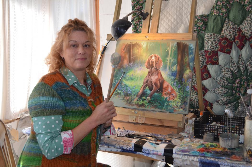 OUT OF THE BLUE: British Kennel Club illustrator and fine artist, Jo van Kampen, who lives in Barnard Castle, is preparing to feature in a new BBC TV series