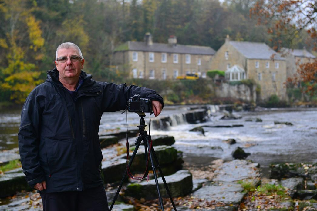 IN FOCUS: David Forster at one of his favourite views of Demesnes Mill