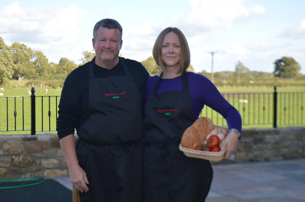 NEW VENTURE: Gary and Helen Mills are the proud owners of Millstone House B&B
