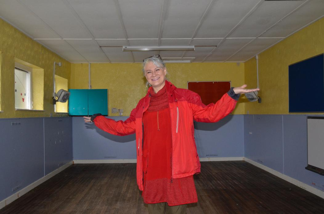 NEW BEGINNINGS: Diane Crossley inside the former nursery building in Gainford she can't wait to turn into the village's post office