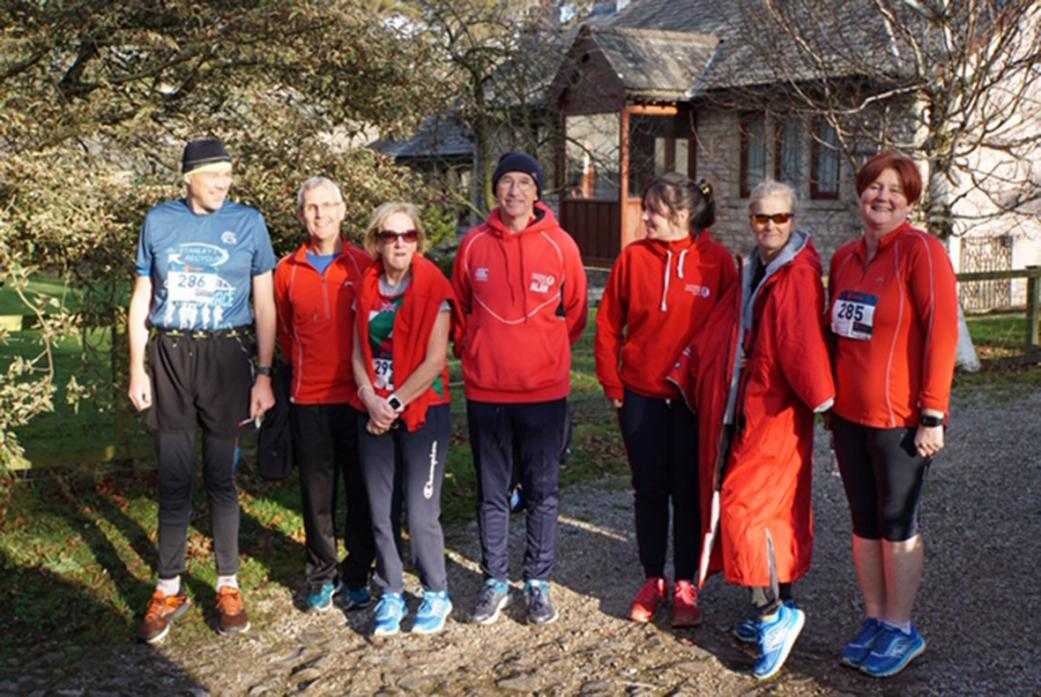 WARM WELCOME: Members of the Teesdale AC team who took part in the Ravenstonedale 10k