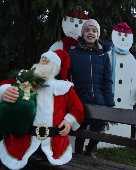 BIG DAY: Carnival queen Lola Rayner, 11, switched on the Christmas tree lights