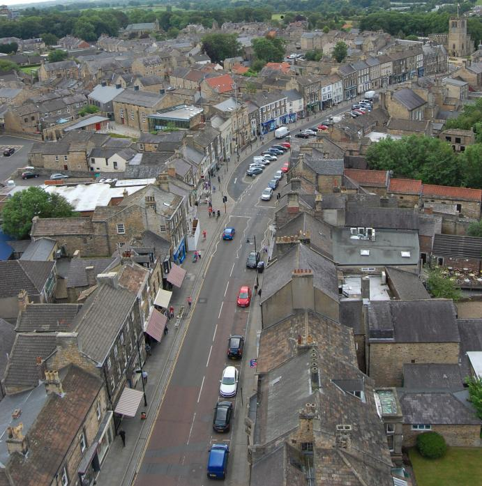LOW EBB: Barnard Castle's high street