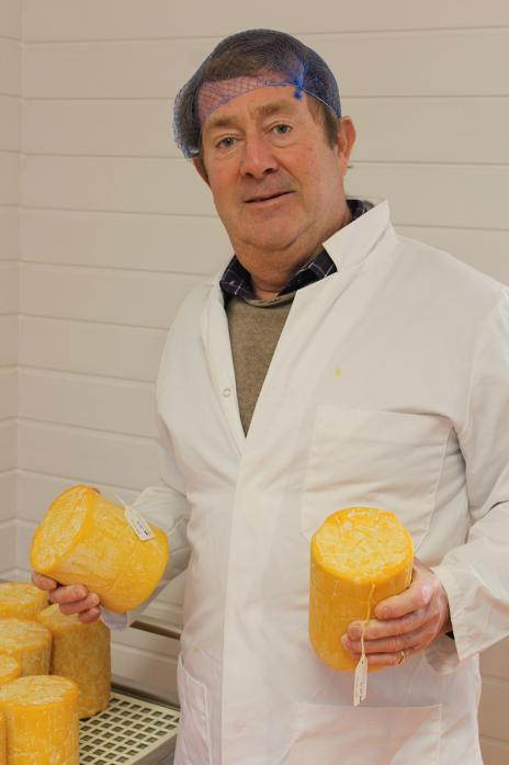 NEW VENTURE: Former media executive Mark Samuelson who has turned to cheesemaking during his semi-retirement