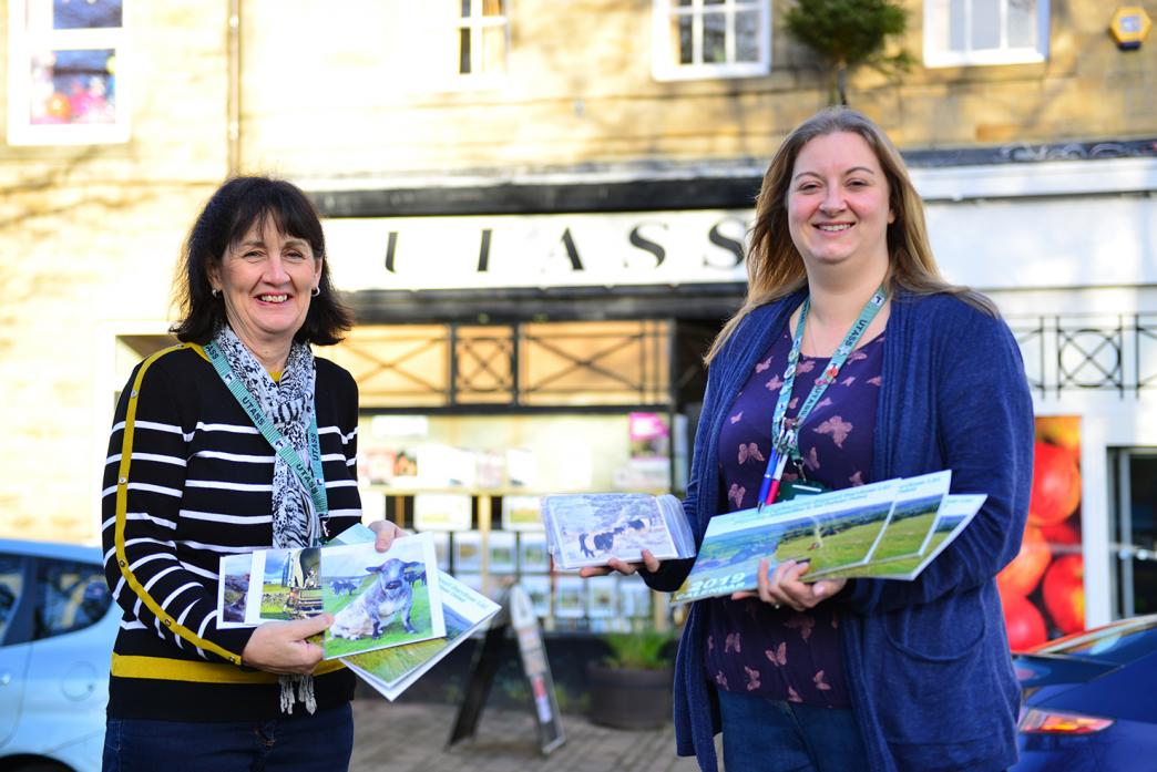 Anne Scott and Emma Spry with the new calendar and greeting cards available from Utass