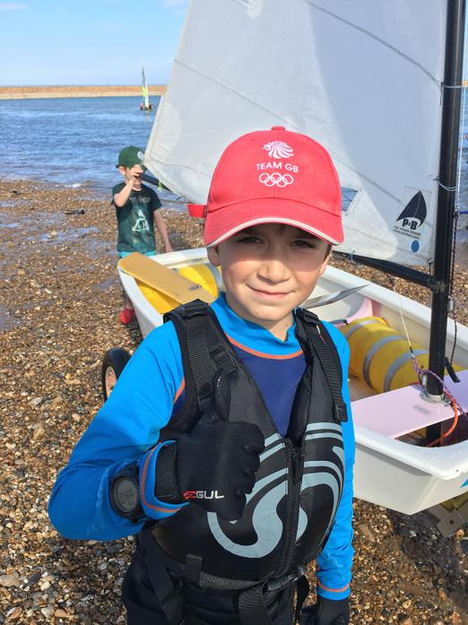 WIND IN HIS SAILS: Ten-year-old Max Yeowart has been given exclusive use of a new boat for the next two years