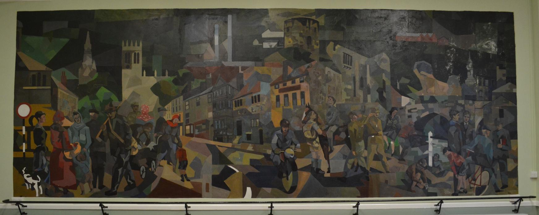 UNCERTAIN FUTURE: The Pittock Mural is once again deteriorating. It was painted in 1957