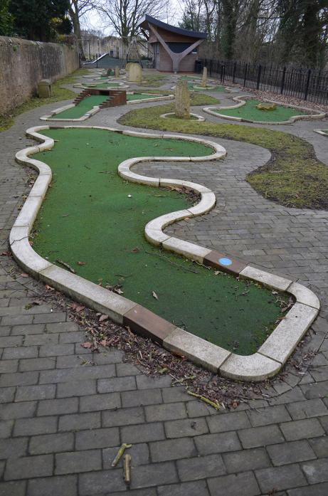 WANING ATTRACTION: Barnard Castle's mini-golf course has experienced a slump in visitors