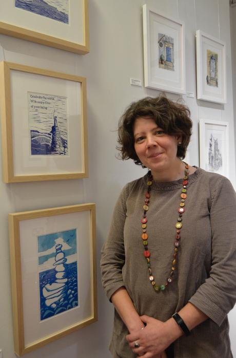 GIFTED: Sarah Gent whose job is to promote The Witham has now found herself exhibiting in the arts centre