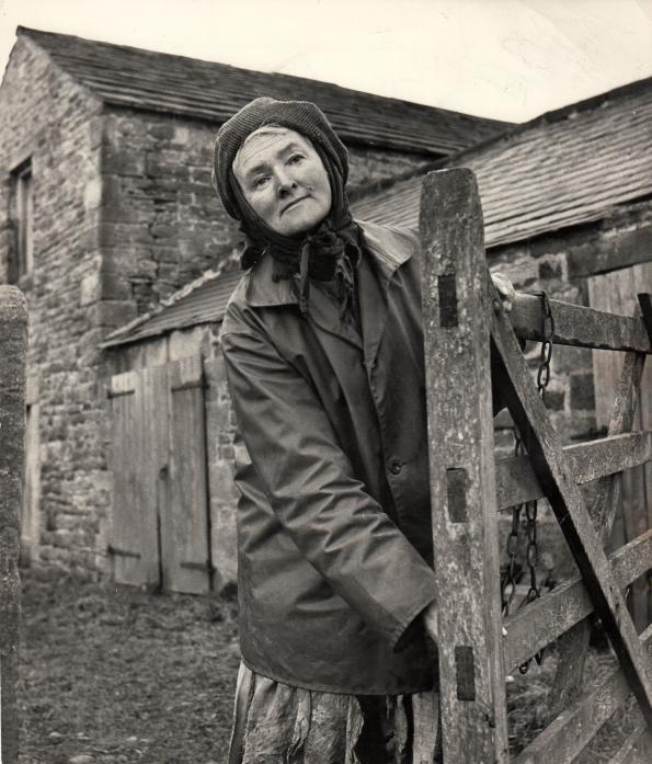 FOUND FAME: Hannah Hauxwell when she was discovered by TV crews in the early 1970s.