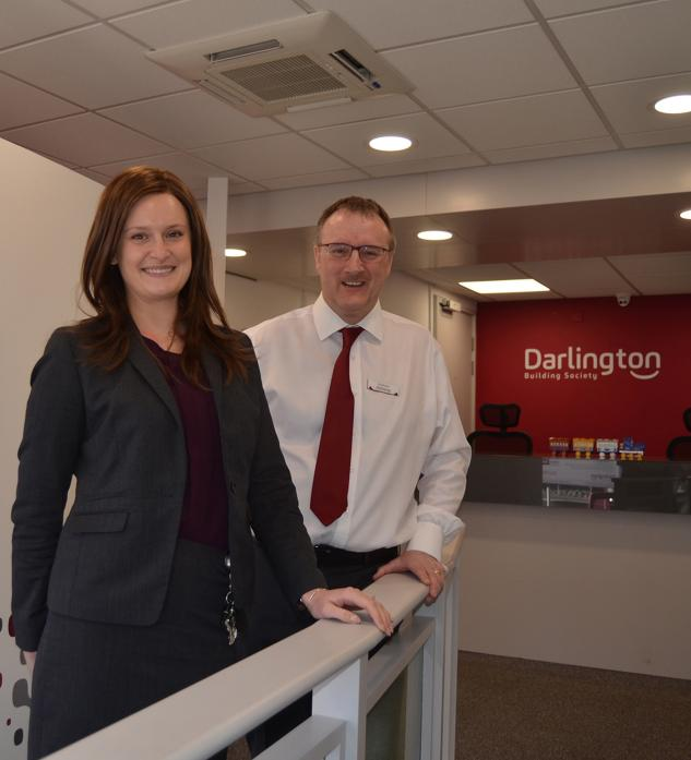 NEW LOOK: Branch manager Kayleigh Turner and Graham Walker at their newly refurbished premises