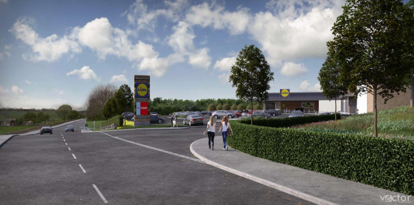 BIG PLANS: An artist's impression of the store 's access road