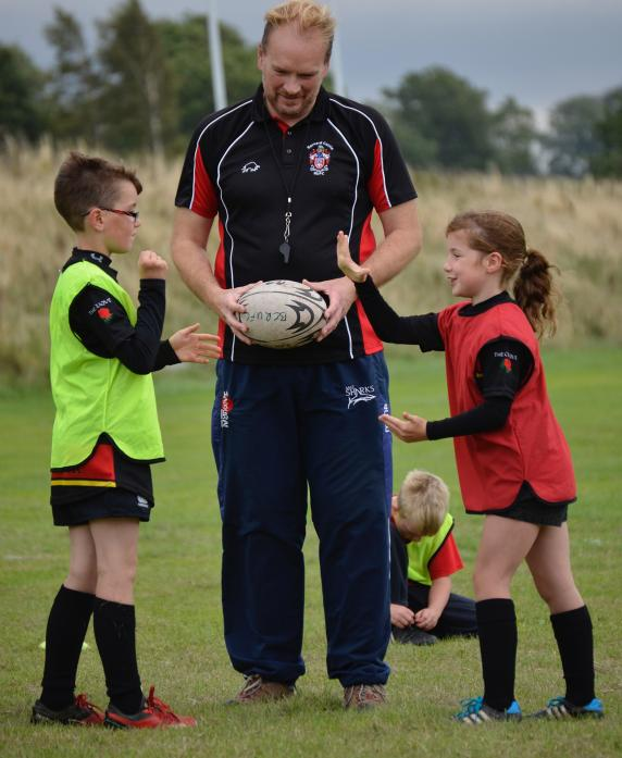Andy Howard during a rugby taster session.