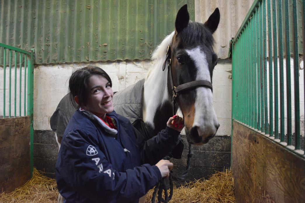 IN THE STABLES: Jessica Todd and her trusted gelding Magner