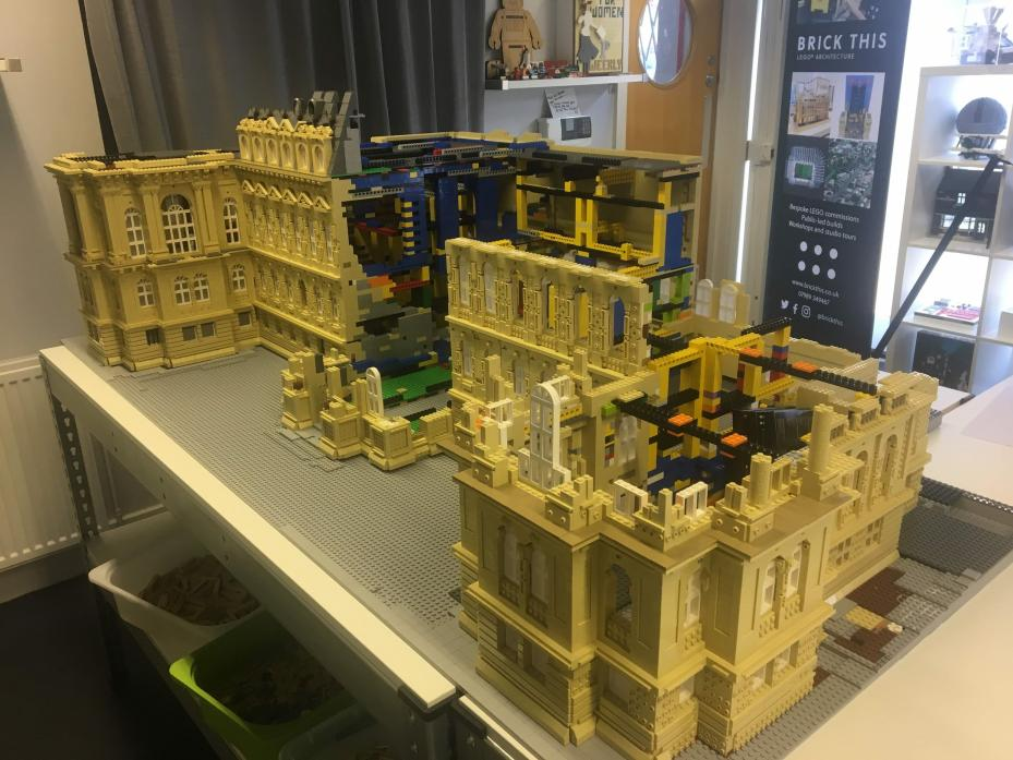 BLOCK PARTY: Work is getting under way on a lego model of The Bowes Museum