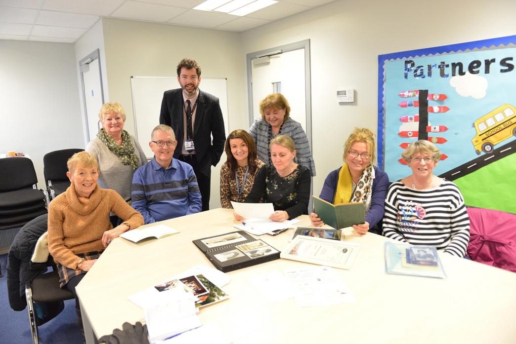 EVENT PLANS: Green Lane Primary School headteacher Rob Goffee and the group that are planning the 60th anniversary celebration