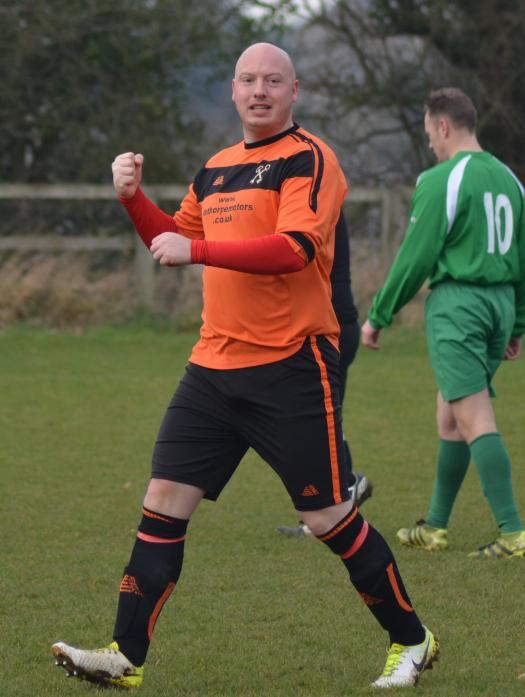 ON TARGET: Gainford's Alan Haycock scored a hat-trick against NA Gretna