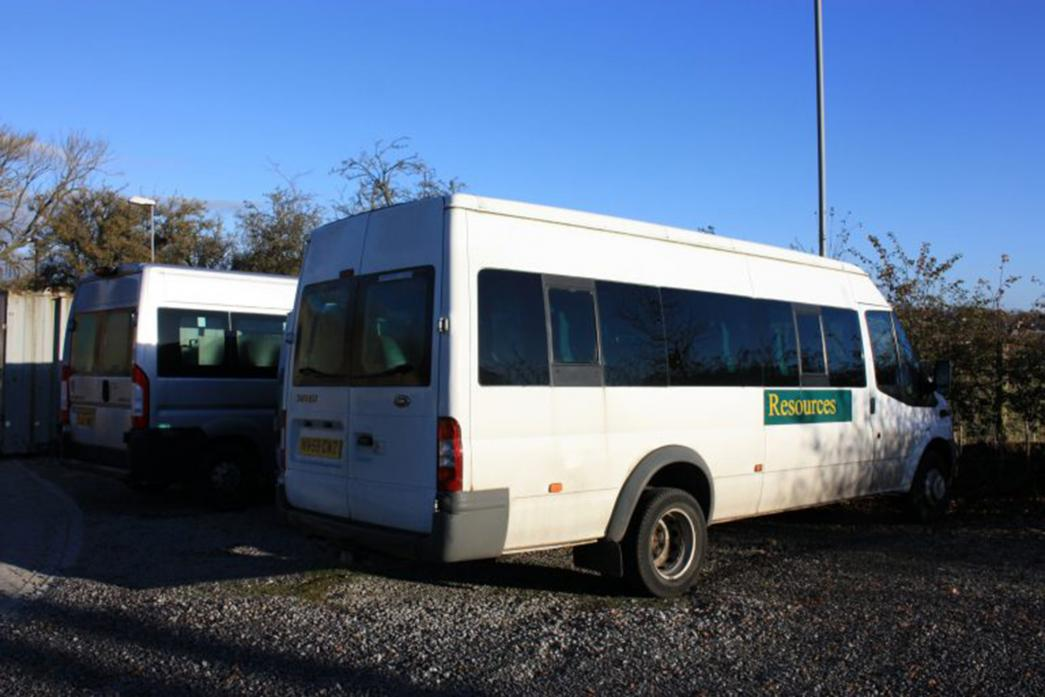 RETURNED: The Hub minibus which was returned four days after being stolen