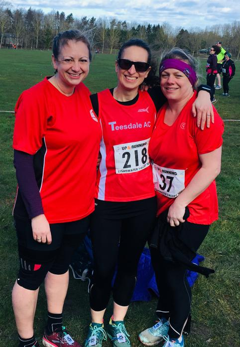 ON THE RUN: Fiona Turnbull, Katy Smith and Morag Burton were among the Teesdale AC runners at Lightwater Valley. Not pictured is Mark Robson