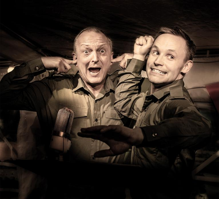 DON'T PANIC: David Benson and Jack Lane perform all the favourite characters from Dad's Army in their stage show which comes to Barnard Castle next week