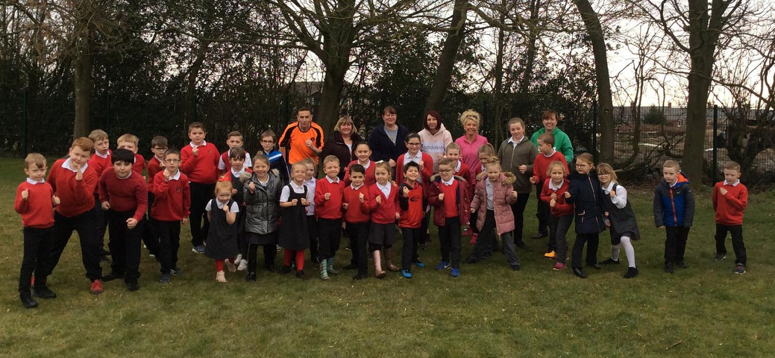 ON YOUR MARKS: Students and teachers at Evenwood School are pounding the pavement in a mile-a-day challenge to run a marathon