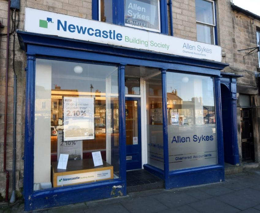 Newcastle Building Society's current base in Galgate. The society will open a new branch, creating a number of jobs, in the town centre