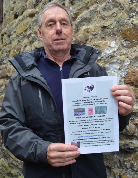 Godfrey Williams, chairman of the newly-formed Friends of Moor House Upper Teesdale National Nature Reserve.