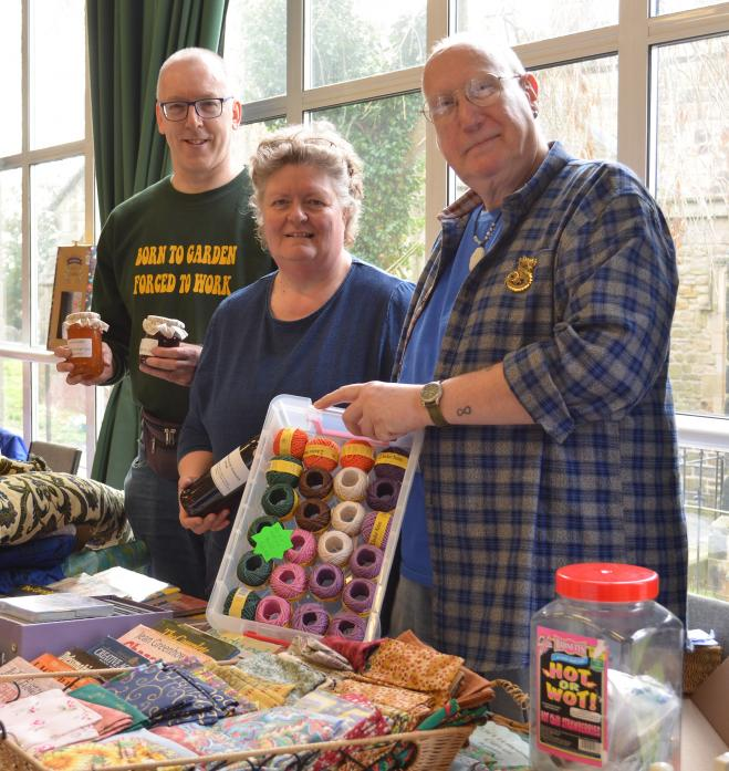 Table top and craft sale organisers Mark Richmond, left, and Peter Blackmore, who took over from Susan Snowdon two years ago.