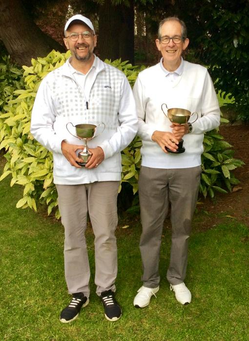 SINGLES SUCCESS: Winner Peter Rimmington, right, and Neil Bailey, runner up
