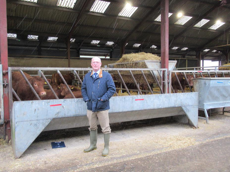 SILAGE TRIAL: Simon Marsh, who led the trial into the benefits of replacing cereals with a high quality maize silage