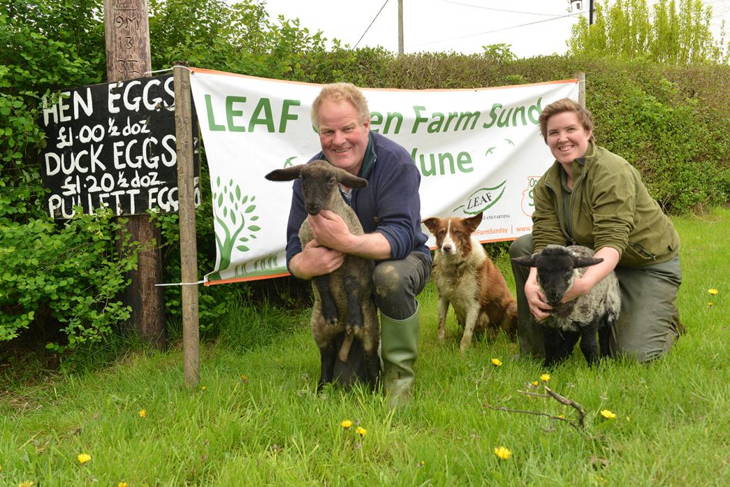 COME AND SEE US: Ben Fox, daughter Heather and sheep dog May are looking to welcome visitors during Blakeley Farm's open day