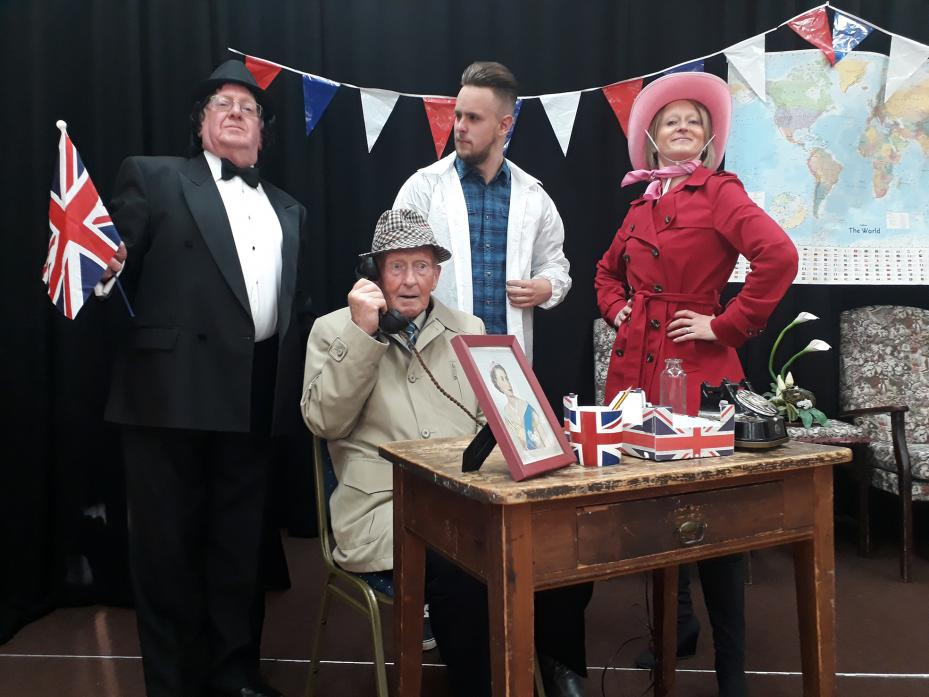 WHODUNNIT: From left, Ross Law, Peter Anderson, Tom Metcalfe and Fiona Dry, the cast of Who Killed the Secret Agent