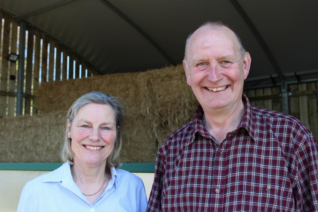 DOWN ON THE FARM: Carolyn and Simon Gill, who farm 160 acres across five locations