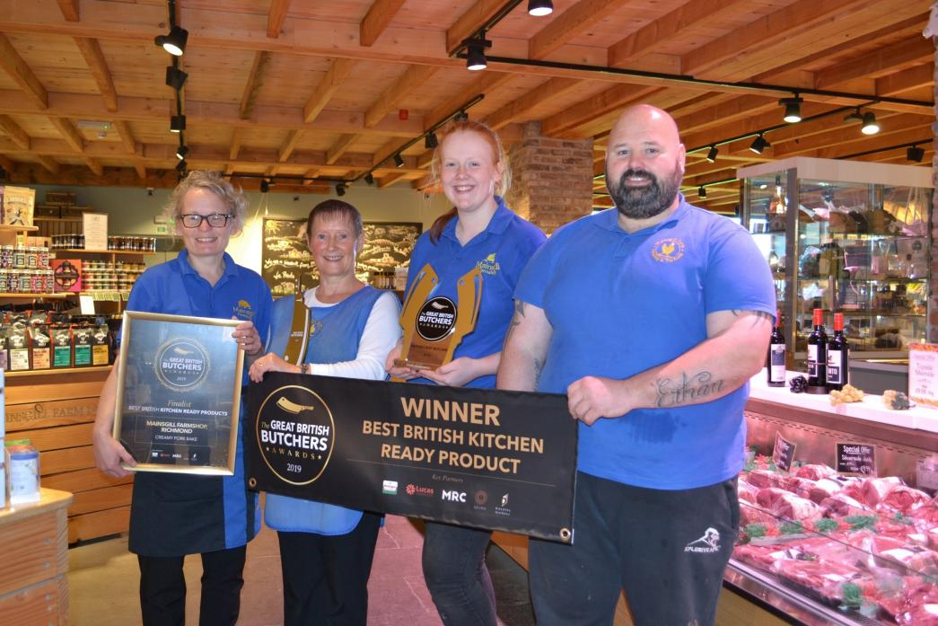WINNING TEAM: Sally Stephens, Shelley Collins, Rachael Henshaw and Chris Withers, from Mainsgill Farmshop, show off their awards