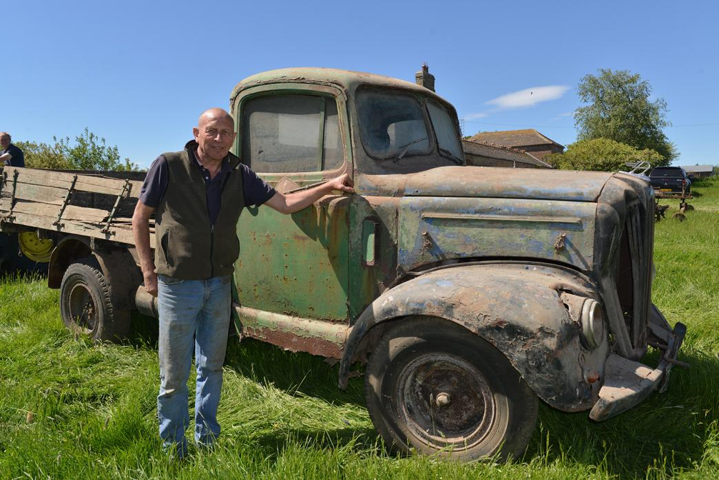 COLLECTOR'S ITEM: Peter Moss with the 1959 Austin lorry